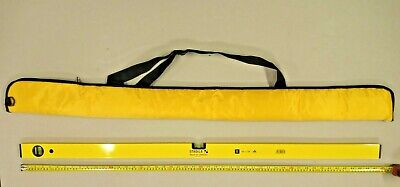 STABLA 4ft SPIRIT LEVEL WITH ZIP-UP CARRY CASE • 25£