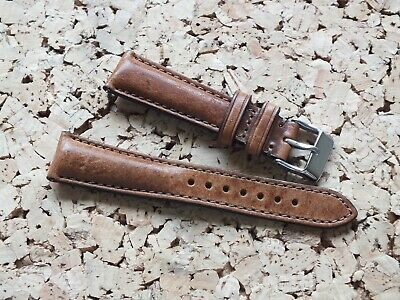 Genuine Leather Quick Release Padded Watch Strap 20mm Weathered Brown By Geckota • 7.50£