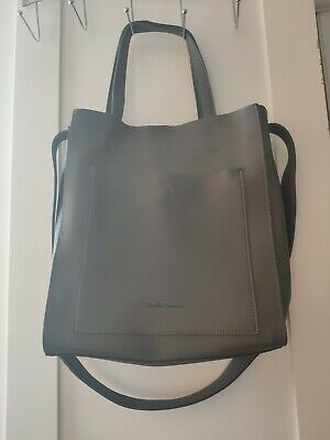 Grey/Pale Blue Women's Leather Bag • 5.99£