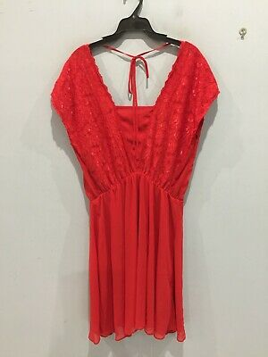 AU17 • Buy ASOS(Curve)  Dress, Size 18, Red  Colour With Some Lace