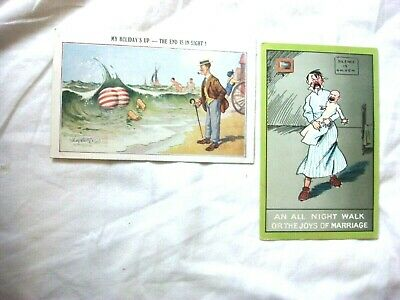 2 X ANTIQUE COMIC POSTCARD'S. BY INTER-ART-Co COMIC & NEWEST SERIES. McGILL. • 7.99£