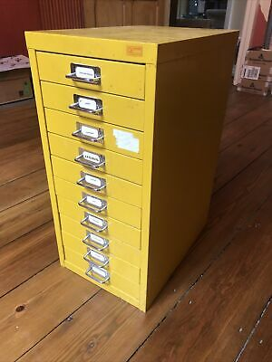 10 Drawer Metal Filing Cabinet • 17£