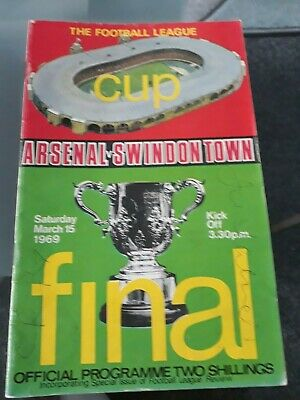 1969 League Cup Final Football Programme Arsenal V Swindon Signed By 3 • 5£
