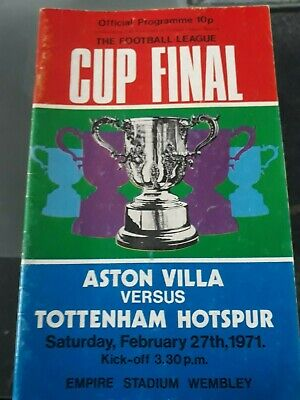 1971 League Cup Final Programme Aston Villa V Spurs Signed By Martin Peters • 5£