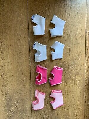 4 X BABY GIRLS SOCK ONS Sock Keeper 0-6 Months - VGC • 7.50£