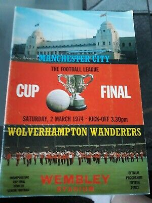 1974 Football League Cup Final Programmes Wolves V Man City Signed By 5 Wolves • 5£