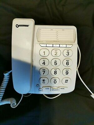Telephone Big Buttons Corded White Home Phone • 15£