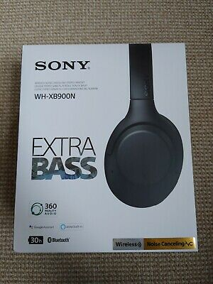 Sony WH-XB900N Wireless Noise-Cancelling Bluetooth Headphones - Brand New • 105£