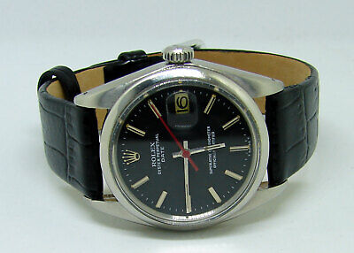 $ CDN2631.60 • Buy Rolex Oyster Perpetual DATE Ref: 1500 With Rare Matte Black Dial Men's Watch
