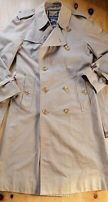 Mens Burberry Trench Coat S/M 40  Chest 42 Short Beige Needs A Clean  • 21£