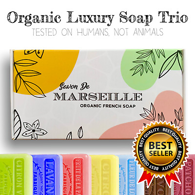 £8.49 • Buy Savon De Marseille French Natural Soap With Organic Shea Butter LUXURY GIFT SET