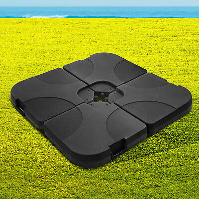 AU94.95 • Buy Umbrella Base Stand Patio Heavy Duty Weight Holder Square Plate 4 PACK Black