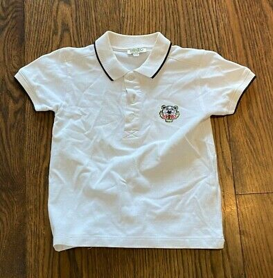 AU1.25 • Buy KENZO BOYS INFANTS POLO T SHIRT TOP | SIZE AGE 5 To 6 | WHITE | 100% AUTHETIC