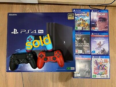 AU500 • Buy New Ps4 Pro 1tb   2 Controller And 6 Games