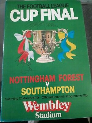 1979 Football League Cup Final Programme Nottm Forest V Southampton Signed By 5  • 5£