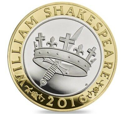 2016 £2 Coin William Shakespeare Histories Two Pounds Uncirculated • 7£