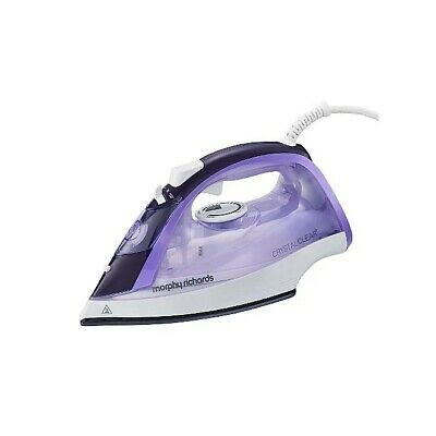Morphy Richards 300301 Steam Iron Crystal Clear Water Tank 2400W Amethyst • 22.99£