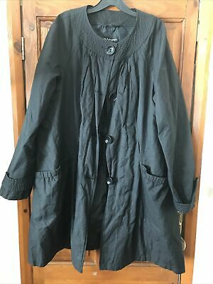 Marks And Spencer Autograph Thin Black Coat Size 20 • 1.20£