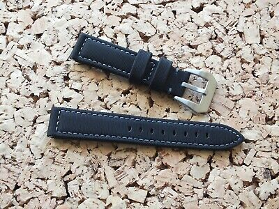 Black Waterproof Sailcloth Watch Strap 20mm By Zuludiver • 3.99£