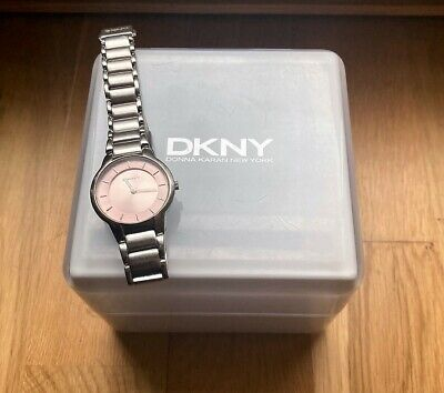 DKNY NY 3484 Circular Pink Dial Stainless Steel Bracelet Women's Watch • 25£