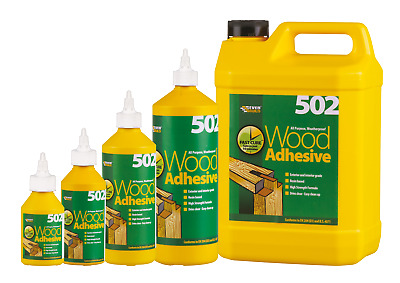 Wood Glue Everbuild Adhesive All Purpose Waterproof PVA Wood High Strength 502 • 4.99£