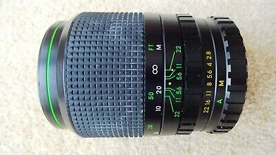 135mm F2.8 Telephoto Camera Lens, Hanimex, M42 Screw Mount, Caps, Case • 11£