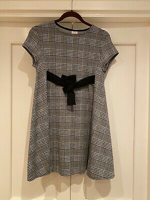 Zara Girls Checked Dress With Bow Detail Age 13/14  • 3.99£