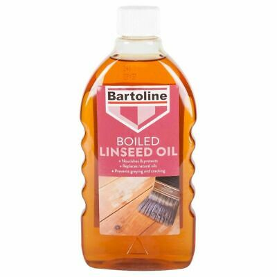 Boiled Linseed Oil Bartoline Revive Wood Furniture Finish Natural Sheen 500ml • 7.99£