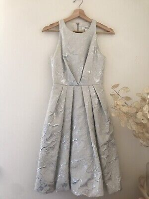 AU200 • Buy Carla Zampatti Silver Dress Size 6-8