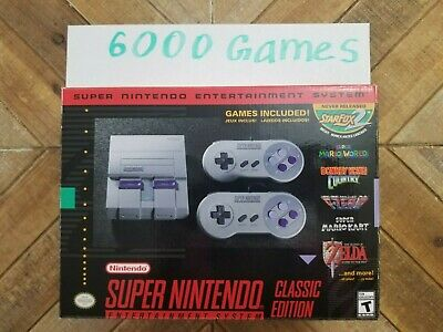 $ CDN34.36 • Buy Nintendo SNES Super Classic Mini 6000 Games Console Free USPS Shipping In Stock