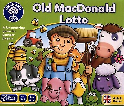 AU25 • Buy ORCHARD TOYS - OLD MACDONALD LOTTO GAME 2-6 Years 2-4players NEW