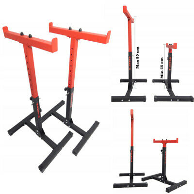$ CDN230.22 • Buy Safety Barbell Squat Rack Stands Adjustable Stand Power Rack Gym Heavy Duty 300k