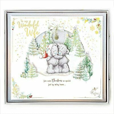 To My Wonderful Wife....GIANT Boxed 3 Page Christmas Card. Me To You. • 18.99£