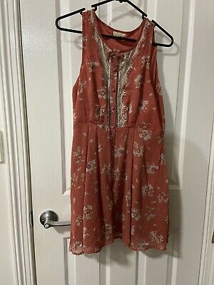 AU3.25 • Buy Urban Outfitters Pins And Needles Floral Pink Button Dress Lace