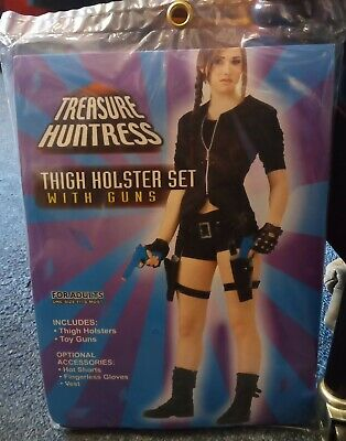 Lara Croft Gun Set, Tomb Raider Style Thigh Holsters With Guns  • 10£
