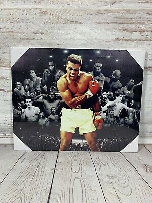 Boxing Legends Mohammed Ali Mike Tyson Mayweather Krays Canvas Picture WALL ART • 13.99£