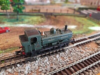 Dapol 2s-007-013 Pannier Tank Engine 9744 -green Br Livery - N Gauge - Dcc Ready • 54.99£