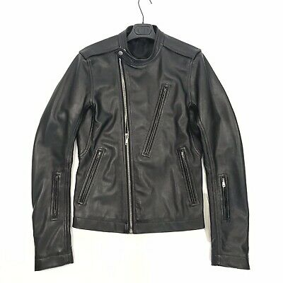 Rick Owens Giacca In Pelle Cycop Biker Leather Jacket Size: 48 - M Rrp £1780 • 495£