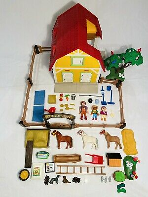 PLAYMOBIL 5222 Horse Barn - Superb Condition - Complete With Instructions • 22.99£