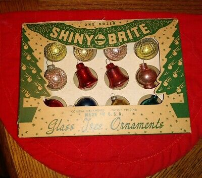 $ CDN19.49 • Buy VIntage Shiny Brite Mini Mesh Christmas Tree Ornaments  Mercury Glass Japan