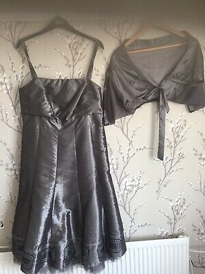 Per Una 16  Pewter Dress And Jacket. Perfect For A Wedding. • 15£
