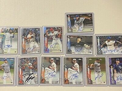 $ CDN1.31 • Buy (12) 2020 Topps Chrome On Card Signature Rookie Auto Cards 12 Card Lot #'d