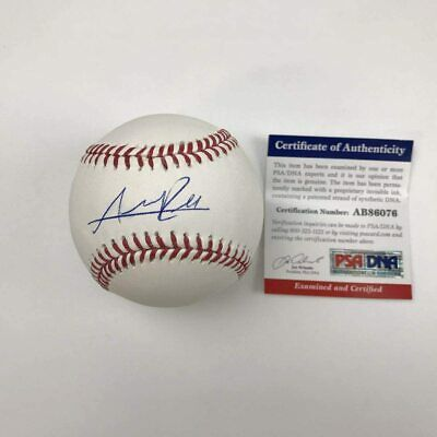 $ CDN13.20 • Buy Autographed/Signed ADDISON RUSSELL Rawlings ROML Cubs Baseball PSA/DNA COA Auto