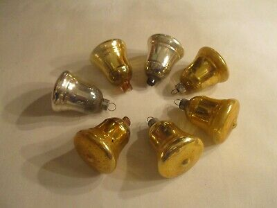 $ CDN11.83 • Buy 7 Vintage Shiny Brite Christmas Ornaments ~ Bells Marked Made In U S Of A