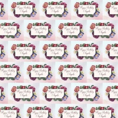 Personalised Flower Bouquet Birthday Present Wrapping Gift Wrap Paper Large • 3.99£