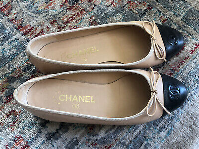 AU500 • Buy Chanel Classic Ballet Flats Sze 37.5 Excellent Near New Condition