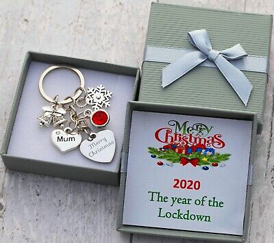 XMAS GIFT Keyring For Mum Daughter Dad Friend Best Friend - Christmas Gifts • 5.99£