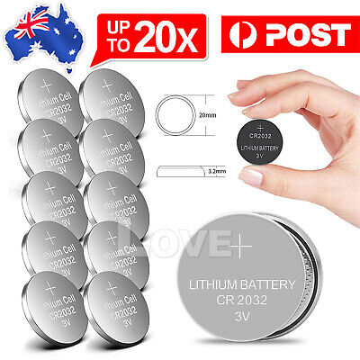 AU3.85 • Buy 20x New Cr2032 3v Lithium Cell Battery 5004lc 2032 Br2032 Button Batteries Oz