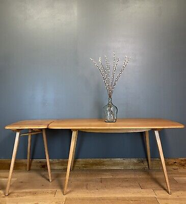 Vintage Ercol Table #382 & Extender #265  / Elm Dining Table / Mid Century • 995£