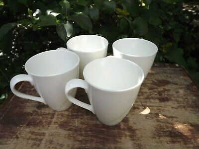 Set Of 4 White China Mugs In Pure Dining By Belleek Living  • 24.99£